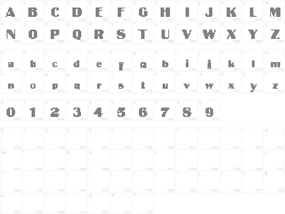 Intellecta Digital Character Map
