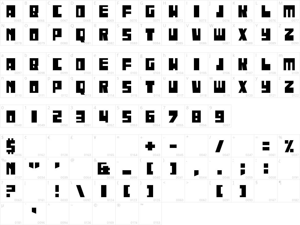 Iregula Character Map