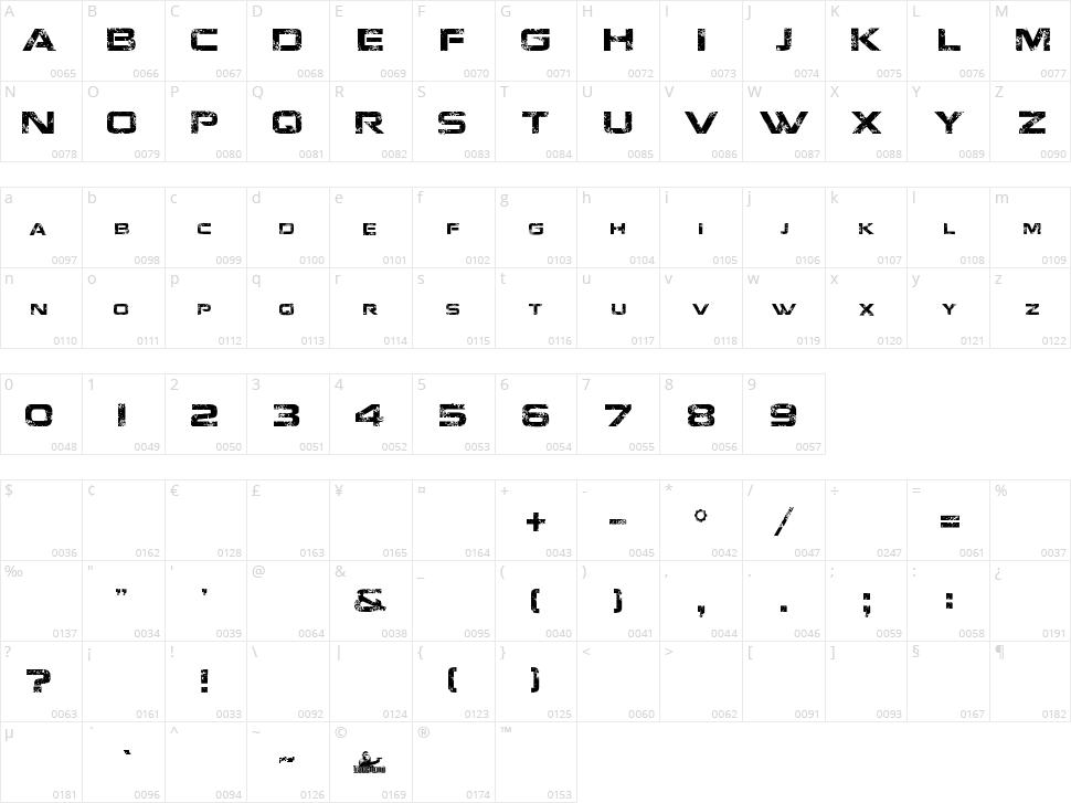 Jacinto Sans Character Map
