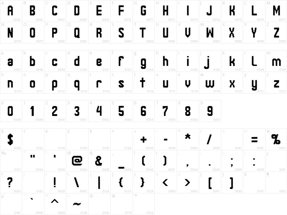 Janinos Juosta Character Map