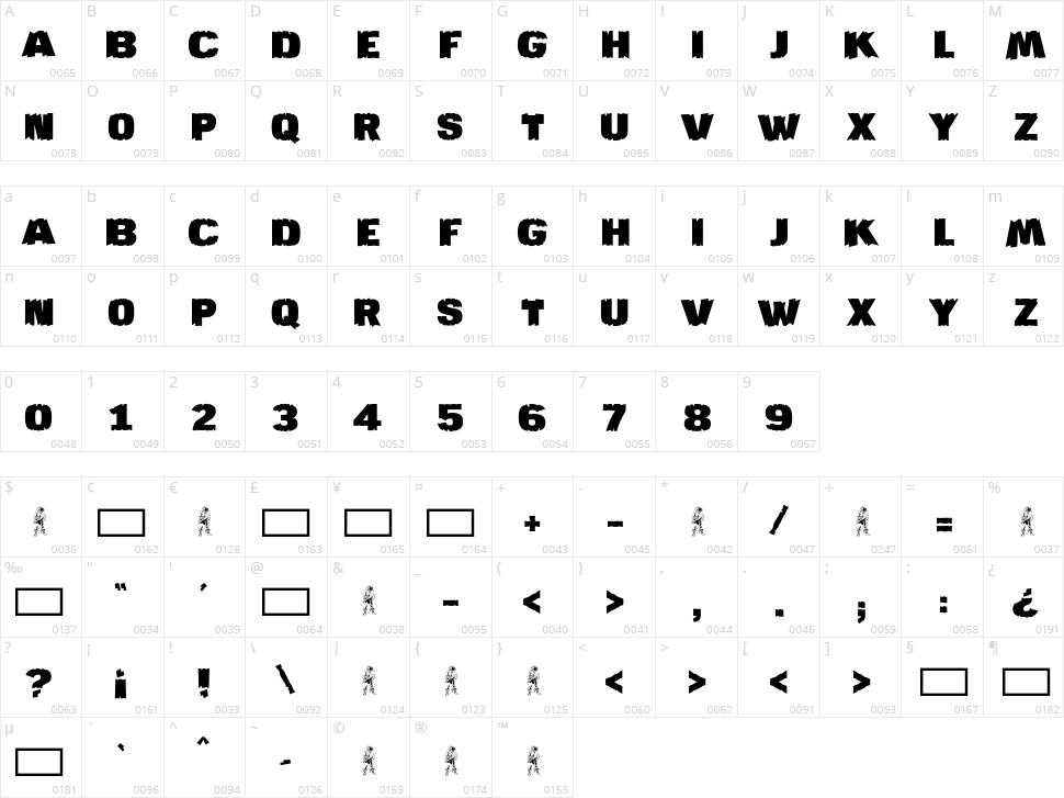 JMH Katan Character Map
