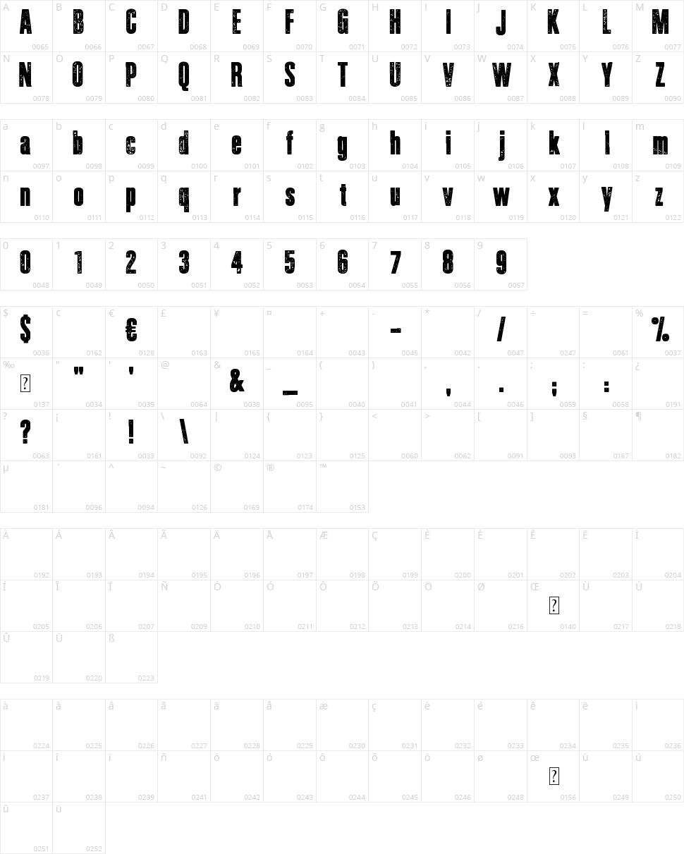 Journal du Soir Character Map