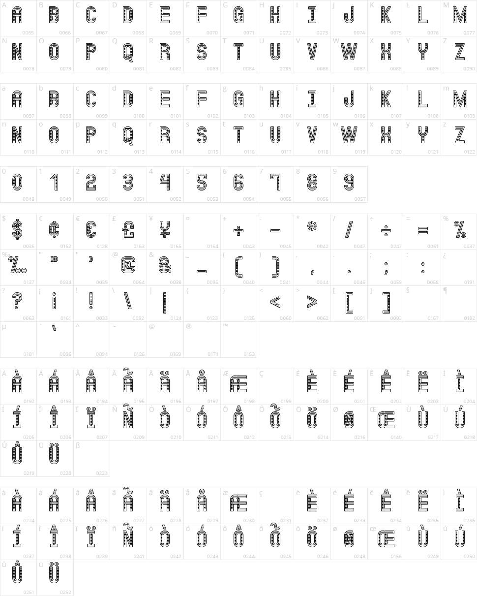 Jux Kadabra St Character Map