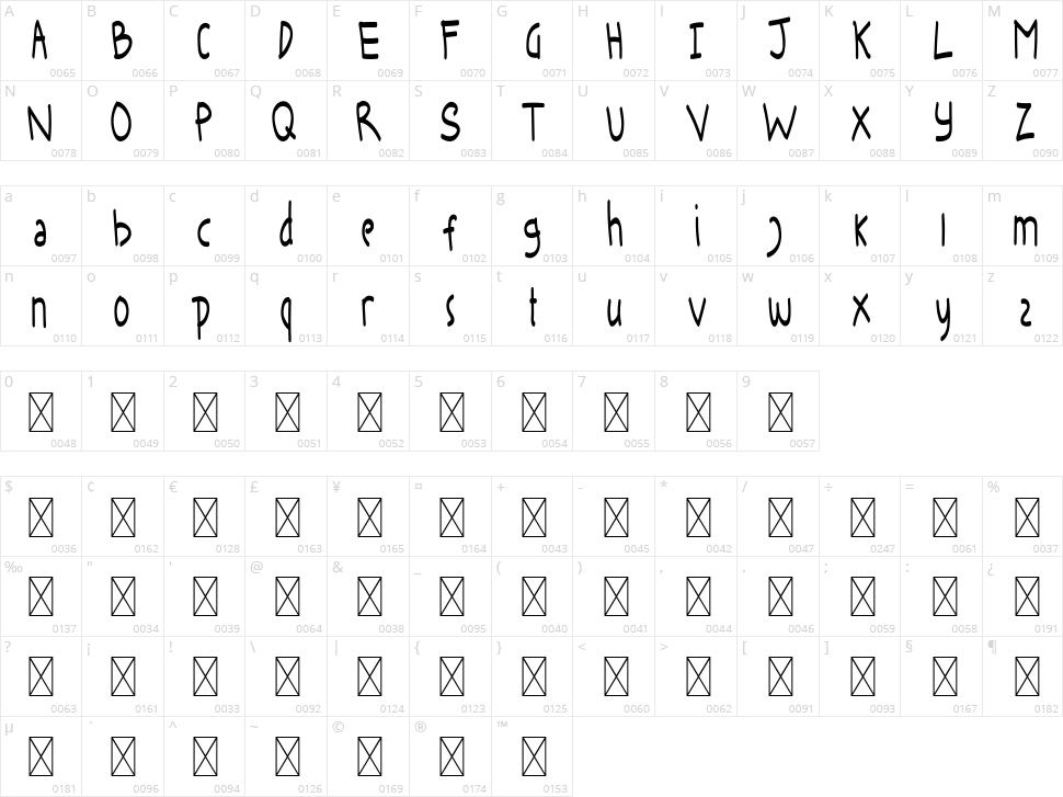 Keira Dreamer Sans Character Map