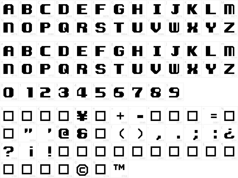 Kemco Smooth Character Map