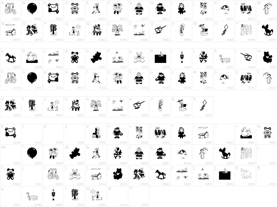 Kids Stuff Character Map