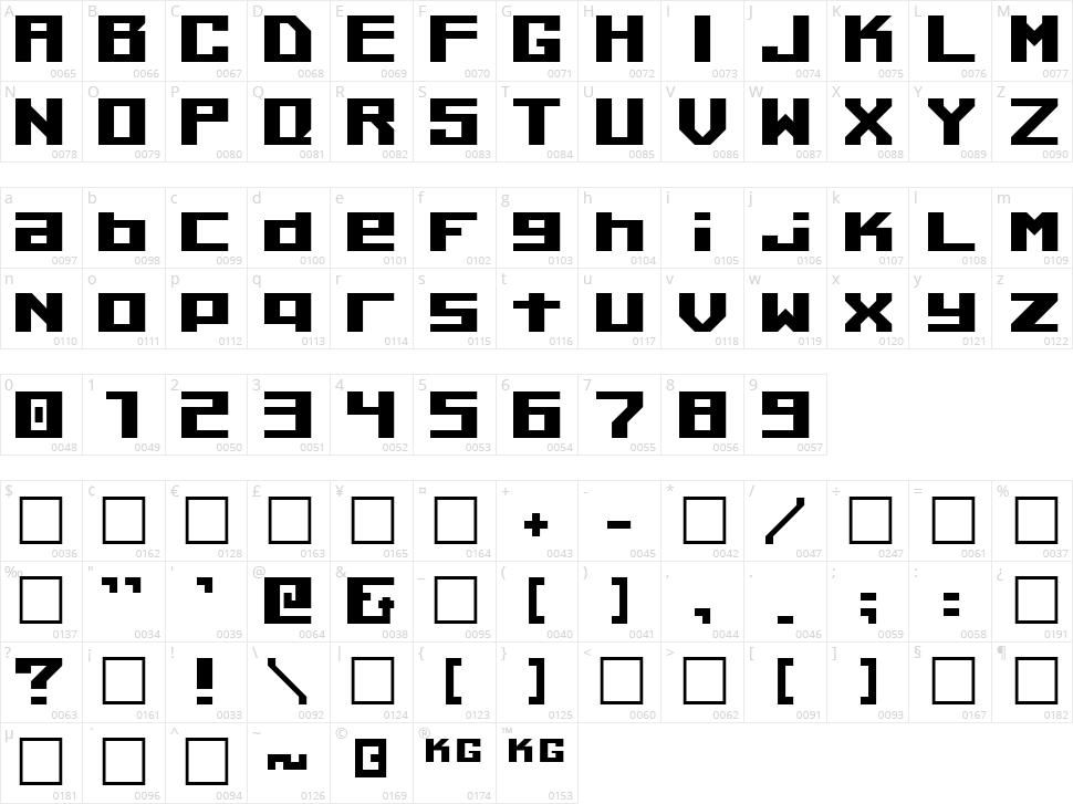 Kiloton Character Map