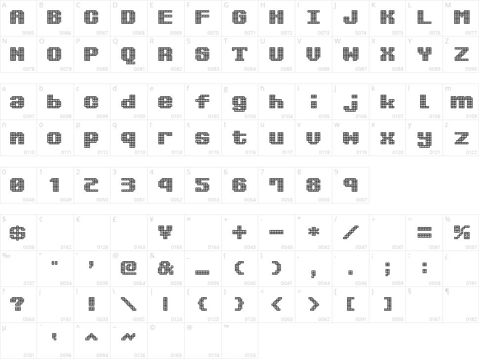Kimidori Mugcup Character Map