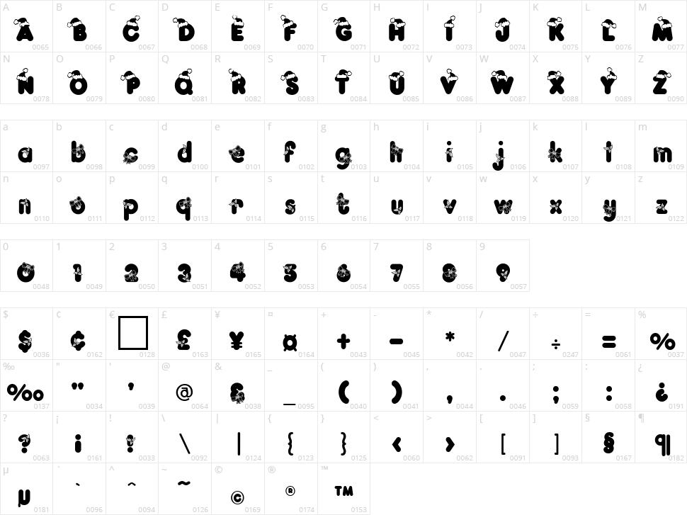 Kringle Character Map