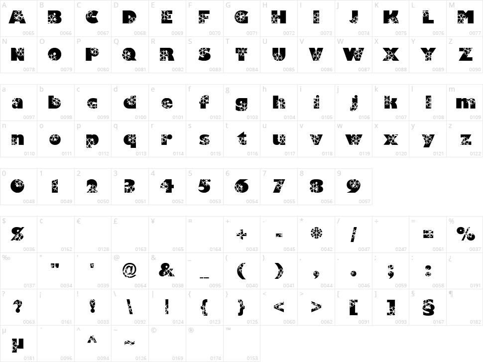 Krystal Character Map