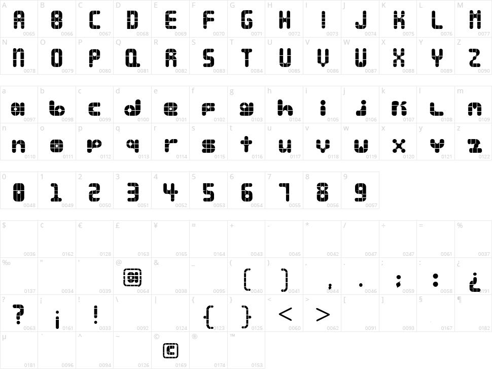Lala Bauhaus Character Map