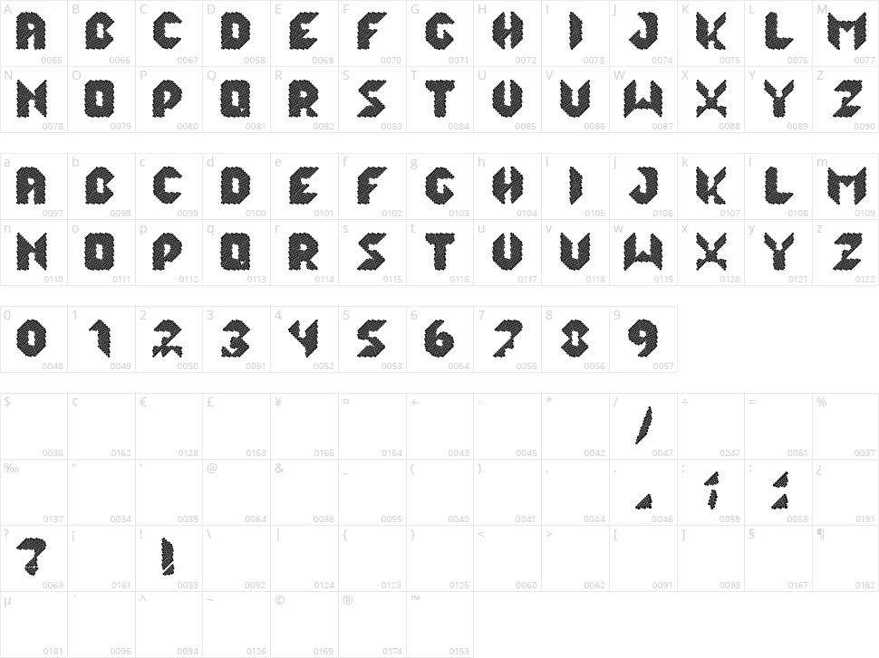 Lalek Hex Character Map