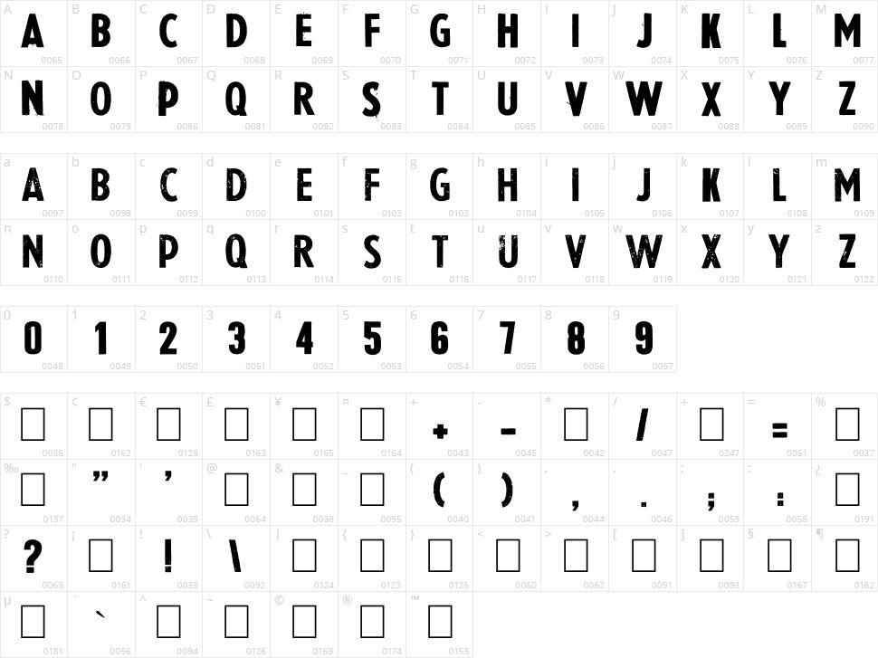La Presse Character Map