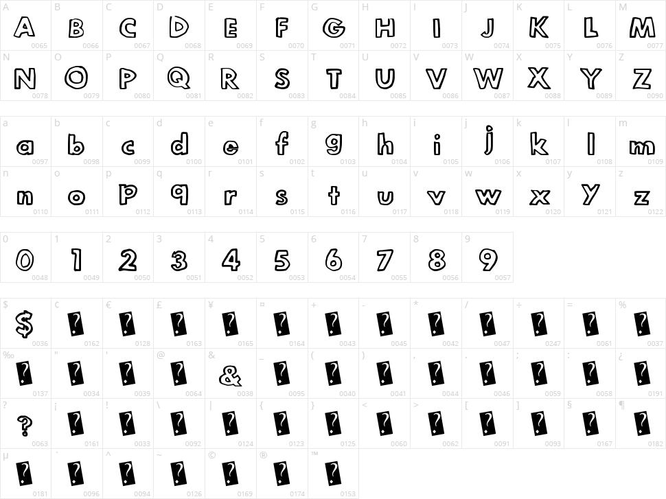Legit Outline Character Map