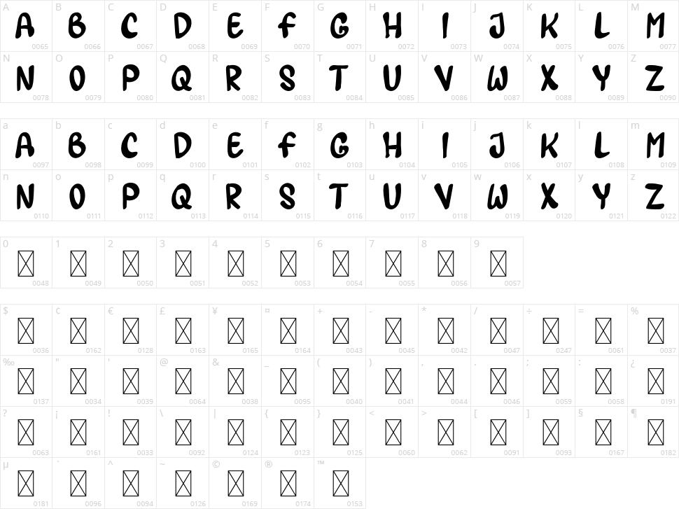 Lematun1 Character Map