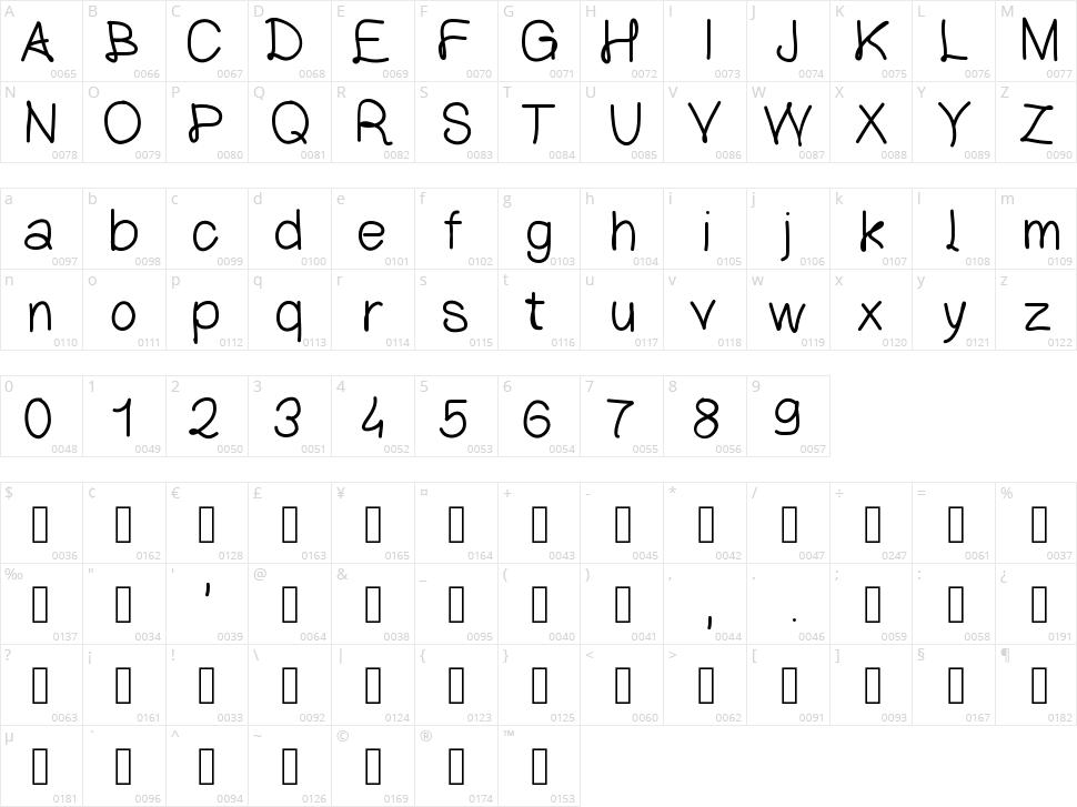 Lettre Classique Character Map