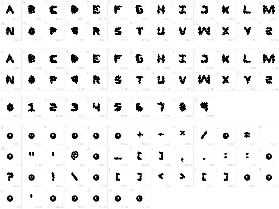 LF Jazzcloud Character Map
