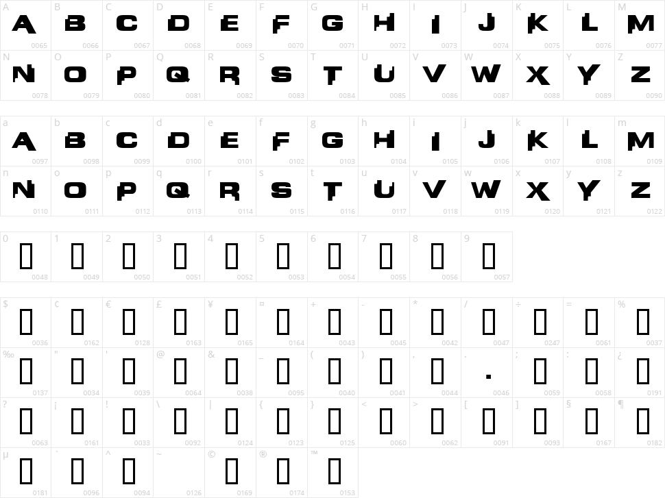 Liandri Beta Character Map