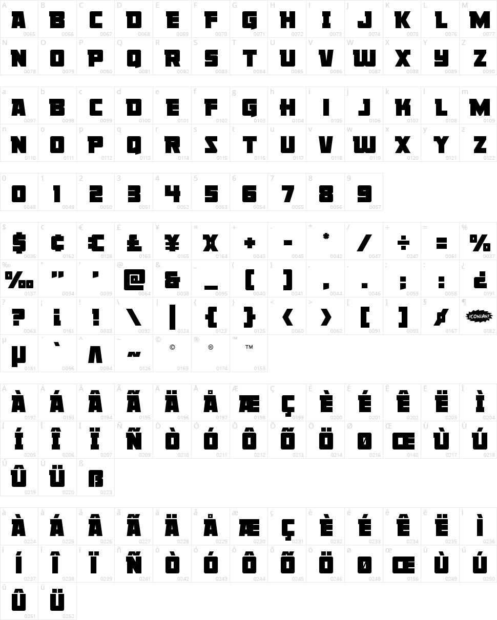 Liberty Legion Character Map