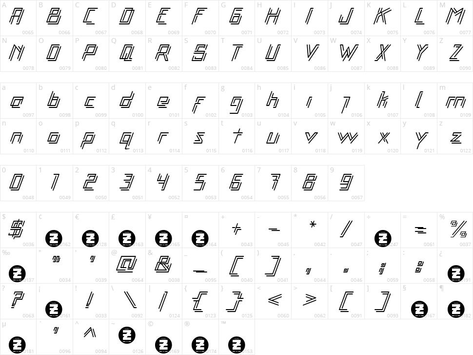 Libre Character Map