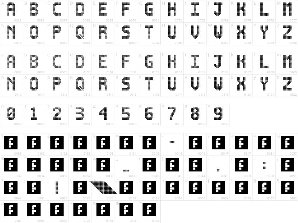 Lightdot 16x10 Character Map