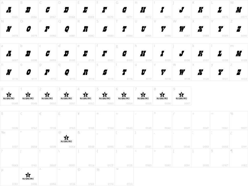 Like Font Character Map