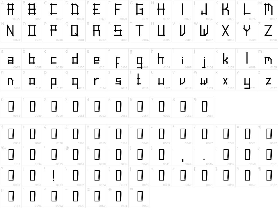 Linear Script Character Map