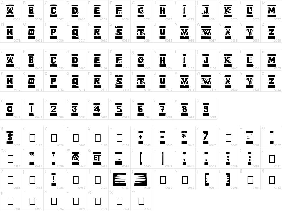 Linoleum Character Map