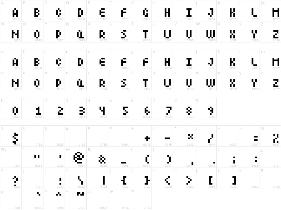 LittleLego Character Map