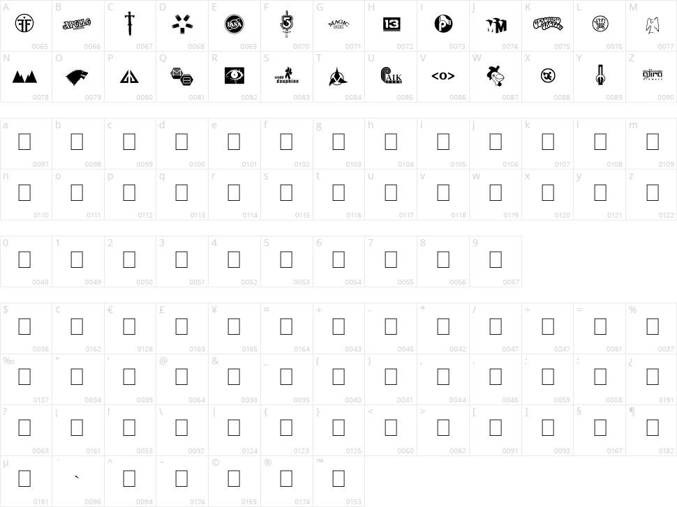 Logos I love Character Map