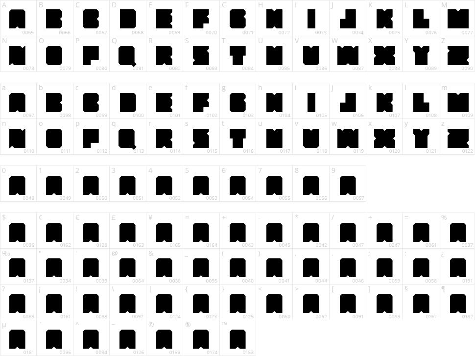Lumio Character Map