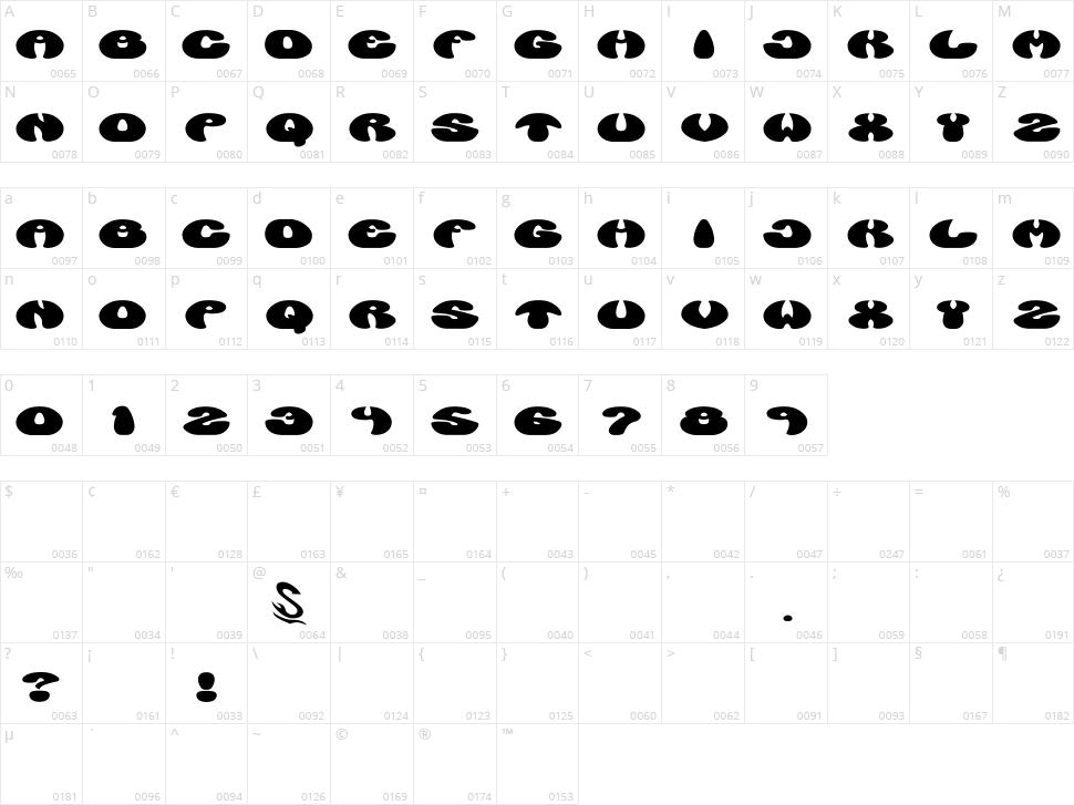 Manzyu G Character Map