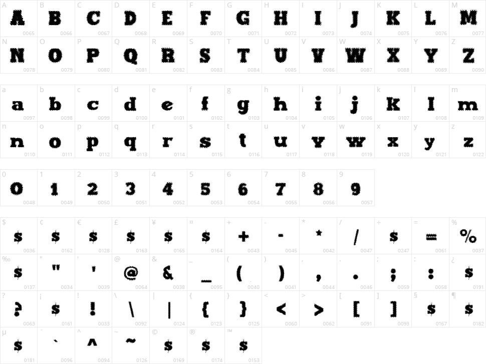 Maxxi Dots Character Map