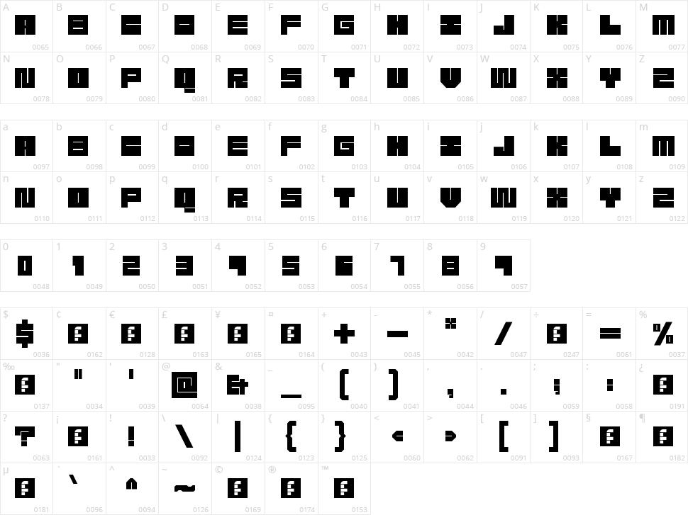Meek Character Map