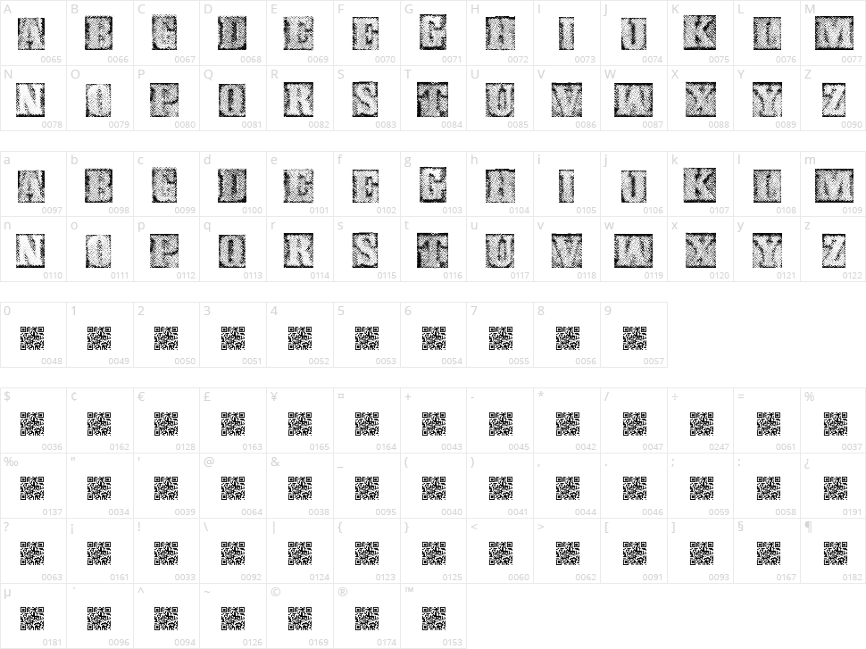 Metalblock Delta Character Map