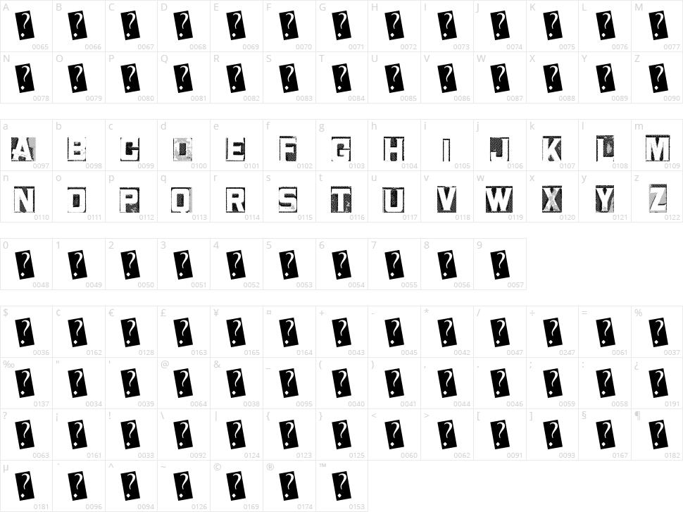 Metal Block Two Character Map