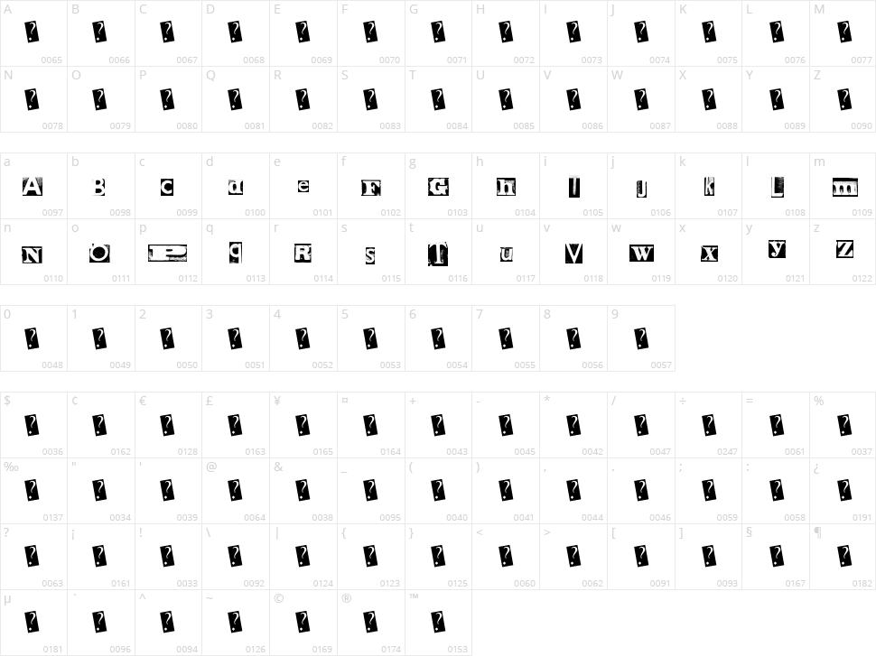 MetalBlock Zero Character Map