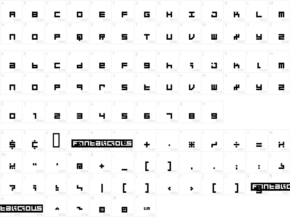 Micro Character Map