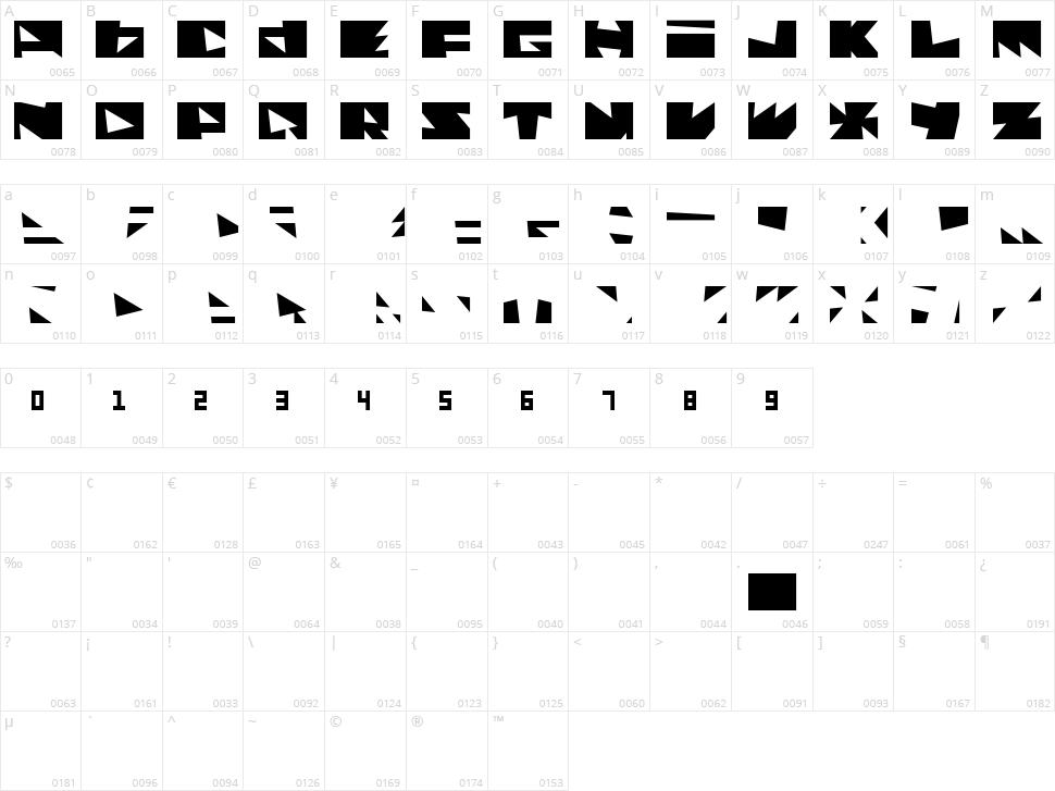 Monolithos Character Map