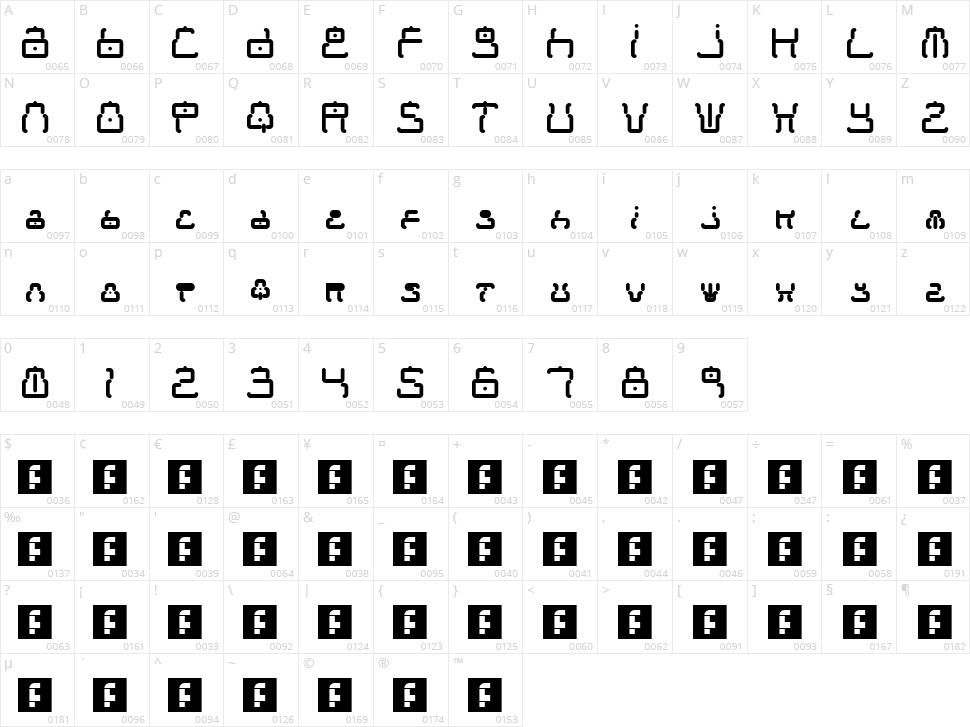 Moonbase Tokyo Character Map