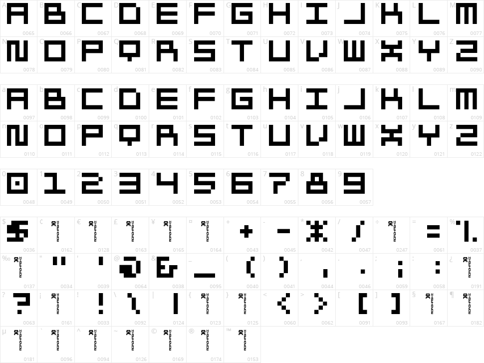 Morohashi Character Map
