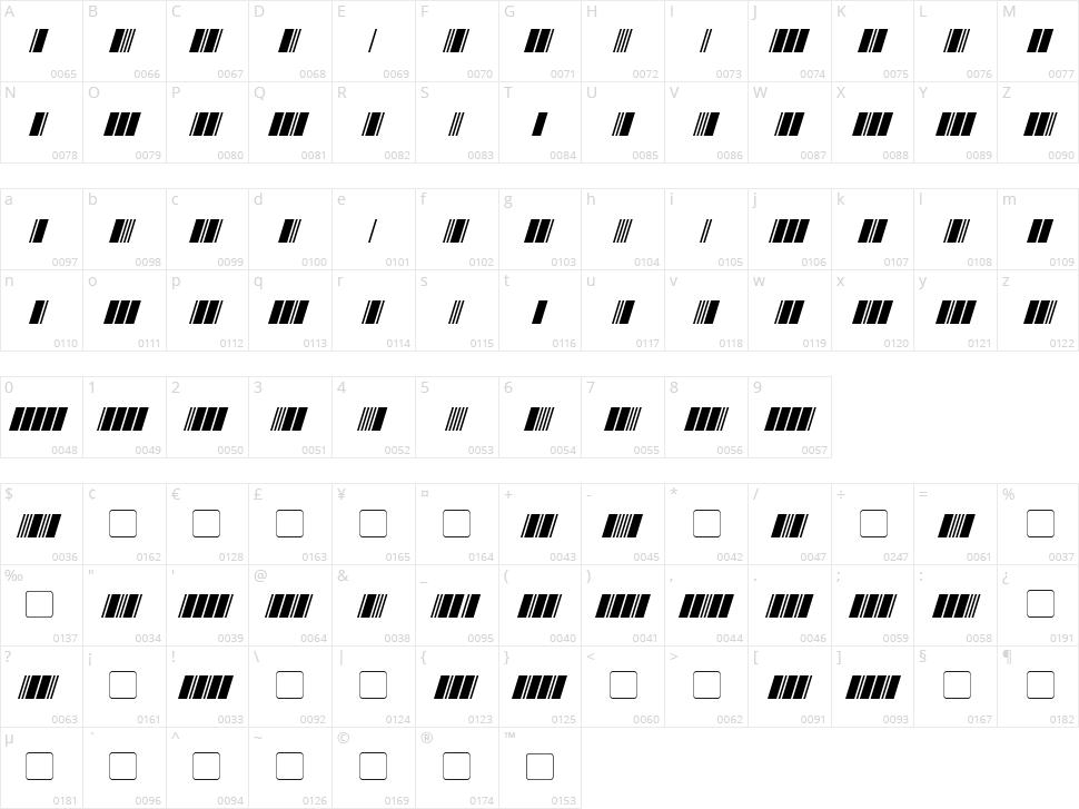 Morse Tech Character Map