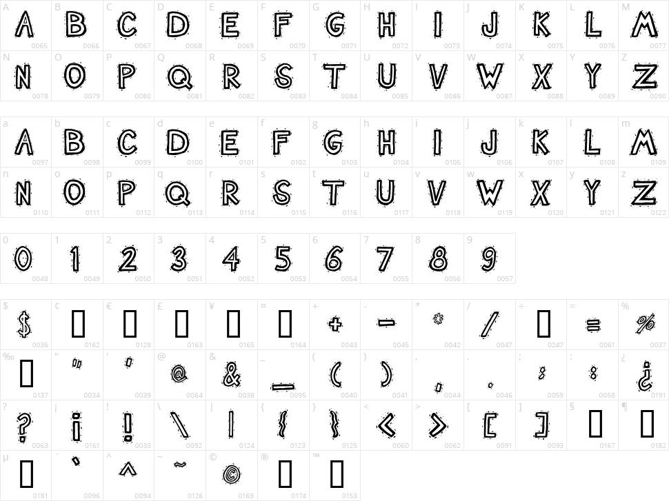 Nash TuckerBlue Character Map