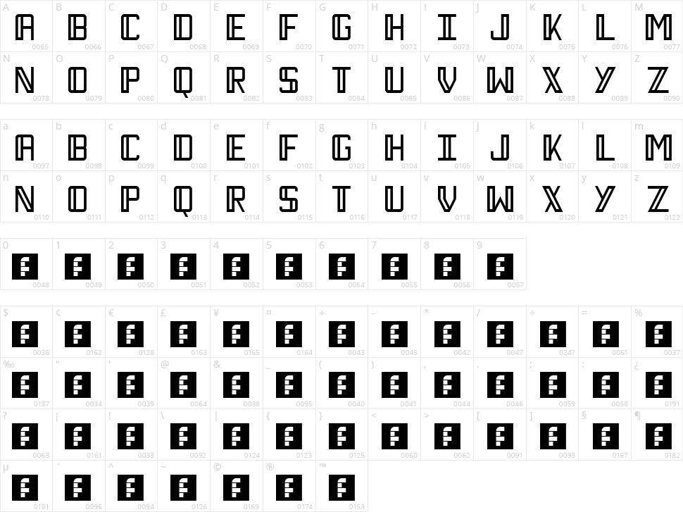 Necktie Character Map