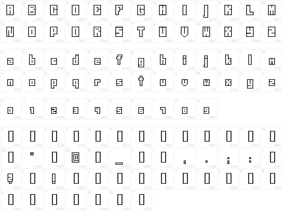Neistil Character Map