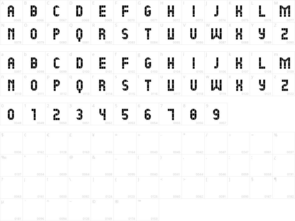 New Message Character Map