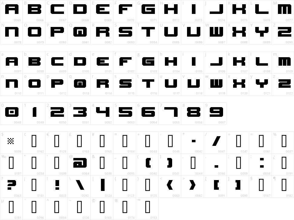 New Horizons Character Map