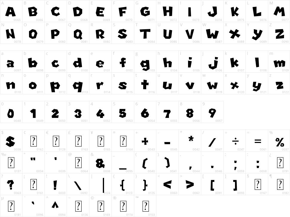 New Super Mario Font U Character Map