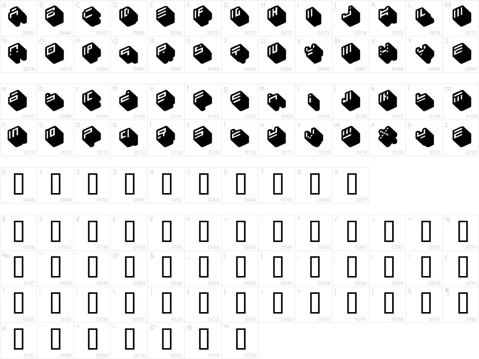 Nippon Blocks Character Map