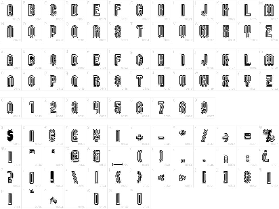 Nomitais Character Map